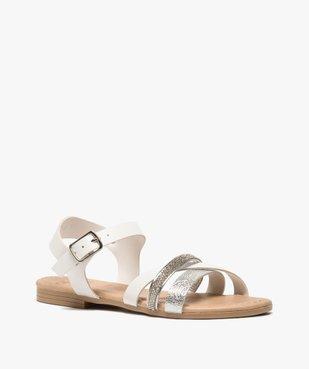 Sandales fille à brides strass et métallisées vue2 - GEMO (ENFANT) - GEMO