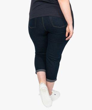 Pantacourt femme slim en denim stretch vue3 - GEMO (G TAILLE) - GEMO