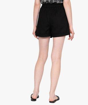 Short femme en toile coupe ample vue3 - GEMO(FEMME PAP) - GEMO
