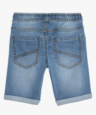 Bermuda garçon en jean avec revers cousus vue4 - GEMO (ENFANT) - GEMO