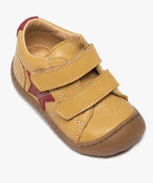 Chaussures premiers pas bébé garçon à scratch - Bopy vue5 - BOPY - GEMO