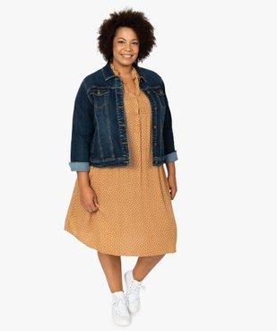 Veste femme grande taille en jean stretch vue5 - GEMO (G TAILLE) - GEMO