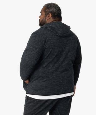 Sweat homme zippé à capuche et poches zippées vue3 - GEMO (G TAILLE) - GEMO