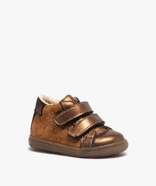 Chaussures de marche bébé dessus cuir brillant - Bopy vue2 - BOPY - Nikesneakers