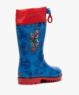 Bottes de pluie garçon à col ajustable – Avengers vue4 - AVENGERS - GEMO
