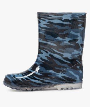Bottes de pluie garçon motif camouflage vue3 - GEMO (ENFANT) - GEMO