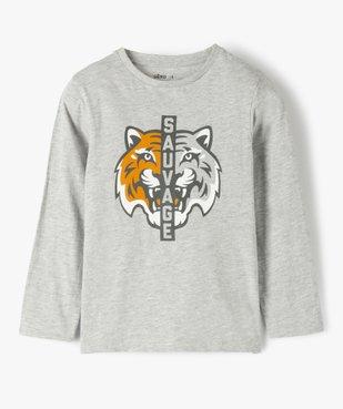 Tee-shirt garçon imprimé à manches longues vue1 - GEMO C4G GARCON - GEMO