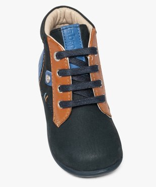 Chaussures bébé garçon semi-montantes dessus cuir - Absorba vue5 - ABSORBA - GEMO