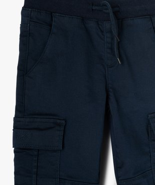 Pantalon garçon multipoches en matière résistante vue2 - GEMO C4G GARCON - GEMO