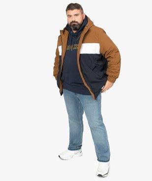 Blouson homme tricolore avec capuche vue5 - GEMO (G TAILLE) - GEMO