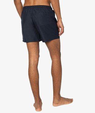 Short de bain homme uni vue3 - GEMO (PLAGE) - GEMO