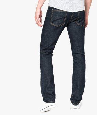 Jean homme straight stretch 5 poches vue3 - GEMO (HOMME) - GEMO