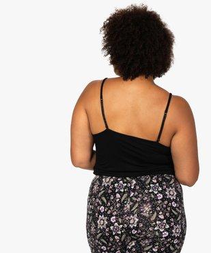 Débardeur femme grande taille en maille fluide et dentelle vue3 - GEMO(HOMWR FEM) - GEMO