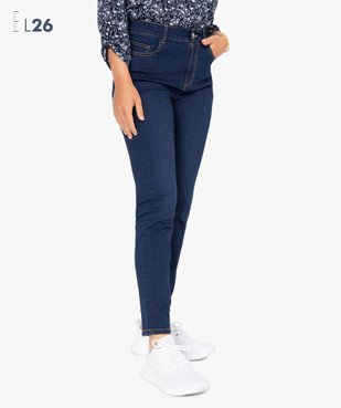 Jean femme slim à taille haute - Longueur L26 vue1 - GEMO(FEMME PAP) - GEMO