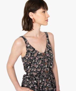 Combinaison pantalon femme imprimée en lin vue2 - GEMO(FEMME PAP) - GEMO