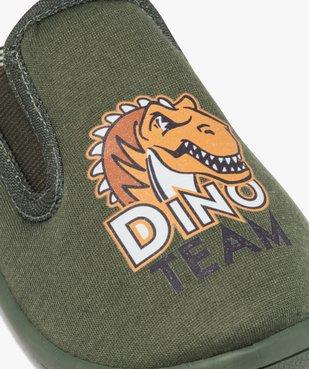 Chaussons garçon en jersey imprimé Dino Team vue6 - Nikesneakers C4G GARCON - Nikesneakers