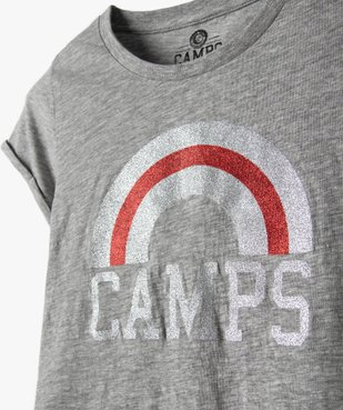 Tee-shirt fille avec motif pailleté – Camps United vue2 - CAMPS UNITED - Nikesneakers