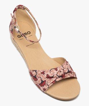 Sandales femme à petit talon compensé et dessus drapé vue5 - GEMO (CASUAL) - GEMO