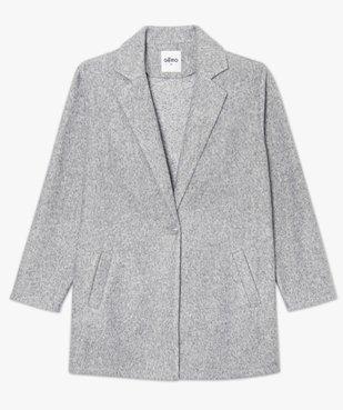 Manteau court femme en matière extensible chinée vue4 - GEMO(FEMME PAP) - GEMO