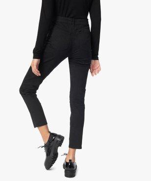 Pantalon femme en toile coupe Slim vue3 - GEMO(FEMME PAP) - GEMO