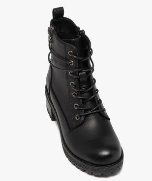 Boots fille unies à talon et semelle crantée fermeture zip vue5 - GEMO (ENFANT) - GEMO