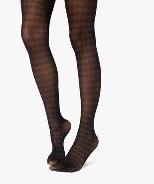 Collants femme semi-opaque à motifs graphiques vue1 - GEMO(HOMWR FEM) - GEMO