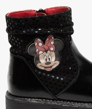Boots fille à semelle crantée et finitions pailletées - Minnie  vue1 - MINNIE - GEMO