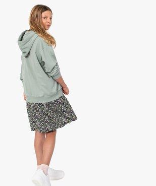 Robe fille à manches courtes en maille texturée vue5 - GEMO (JUNIOR) - GEMO