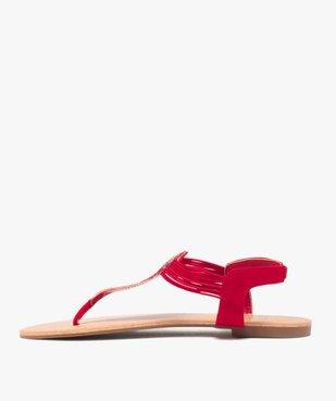 Sandales femme à entre-doigts brides élastiquées à strass vue3 - GEMO (CASUAL) - GEMO