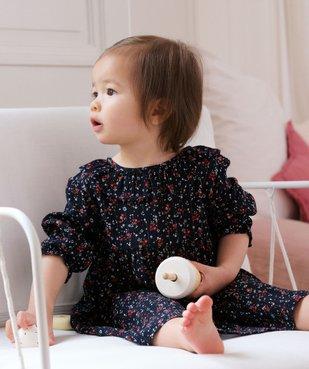 Robe bébé fille à motifs fleuris – Lulu Castagnette vue6 - LULUCASTAGNETTE - GEMO