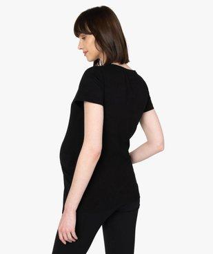 Tee-shirt de grossesse avec inscription en forme de cœur  vue3 - GEMO (MATER) - GEMO