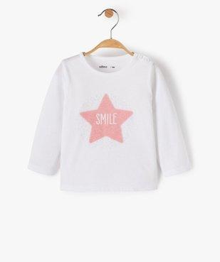 Tee-shirt bébé fille manches longues avec motifs et inscriptions vue1 - GEMO C4G BEBE - GEMO