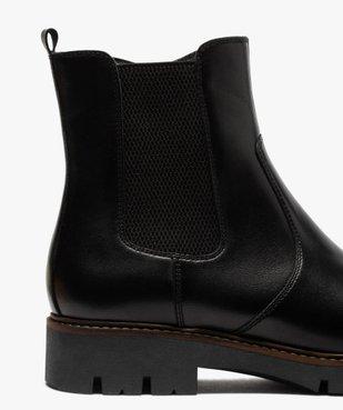 Boots fille style chelsea dessus cuir à semelle crantée vue6 - GEMO (ENFANT) - GEMO