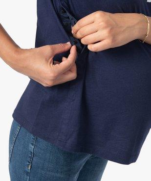 Tee-shirt de grossesse et d'allaitement à manches longues et inscription vue5 - Nikesneakers (MATER) - Nikesneakers