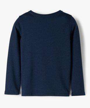 Tee-shirt fille à manches longues et motif sur l'avant vue3 - GEMO C4G FILLE - GEMO