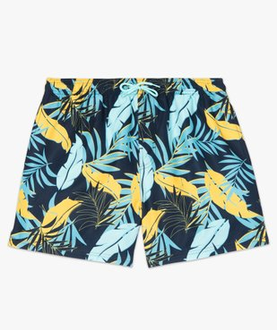 Short de bain homme motif feuillage multicolore vue4 - GEMO (PLAGE) - GEMO