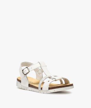 Sandales fille dessus cuir à semelle crantée - Bopy vue2 - BOPY - GEMO