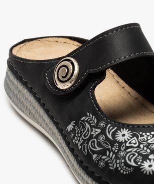 Sabots femme confort à bride scratch et motif floral vue6 - Nikesneakers (CONFORT) - Nikesneakers