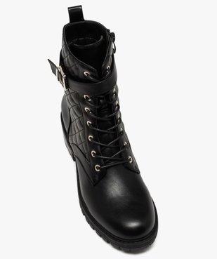 Boots femme unies à semelle crantée et tige matelassée vue5 - GEMO (CASUAL) - GEMO