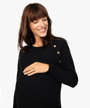 Robe femme spéciale grossesse avec col boutonné vue2 - GEMO C4G MATERN - GEMO