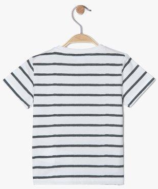 Tee-shirt bébé garçon à rayures et motif - Disney vue3 - DISNEY DTR - GEMO