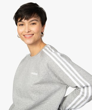 Sweat femme avec bandes sur les manches - Adidas vue2 - ADIDAS - GEMO