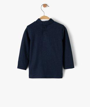Tee-shirt bébé garçon imprimé à col roulé vue4 - GEMO C4G BEBE - GEMO