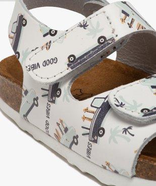 Sandales bébé garçon en cuir imprimé fermeture scratch vue6 - GEMO(BEBE DEBT) - GEMO