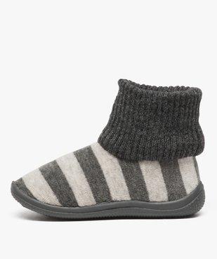 Chaussons bébé à rayures avec tige façon chaussettes vue3 - GEMO (ENFANT) - GEMO