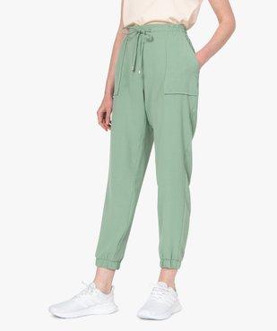 Pantalon femme fluide coupe ample vue1 - GEMO(FEMME PAP) - GEMO