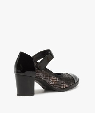 Escarpins femme confort à bride scratch et détails vernis vue4 - Nikesneakers(URBAIN) - Nikesneakers
