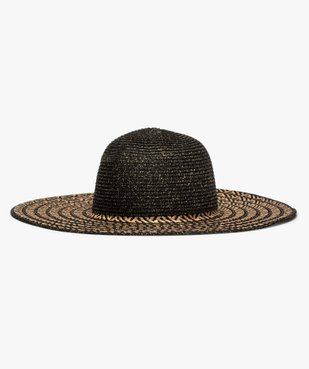 Chapeau de paille femme à larges bords et paillettes vue1 - GEMO (ACCESS) - GEMO