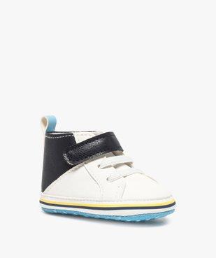 Chaussons de naissance garçon style baskets vue2 - Nikesneakers(BB COUCHE) - Nikesneakers