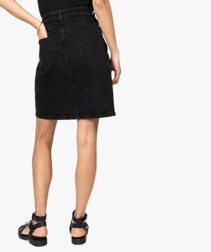 Jupe femme en jean mi-longue boutonnée sur l'avant vue3 - GEMO(FEMME PAP) - GEMO